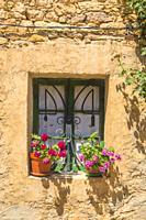 Window of rustic house.