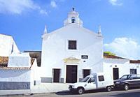 Facade of Nuestra Señora de la Concepcion church. Olivenza, Badajoz province, Extremadura, Spain.