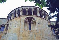Apse of the cathedral. La Seo de Urgel, Lerida province, Catalonia, Spain.