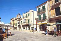 Main Square. Santanyi, Mallorca island, Balearic Islands, Spain.
