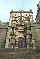 Facade of Santa Maria church. Pontevedra, Spain.