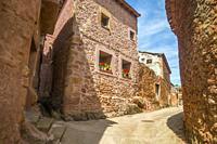 Street. Cuevas de Ayllon, Soria province, Castilla Leon, Spain.