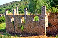 annex building of Can Camós, old traditional Catalan farmhouse, Banyoles, Girona, Catalonia, Spain