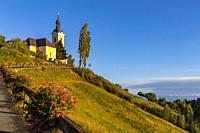 Church in Kitzeck im Sausal, Styria, Austria.