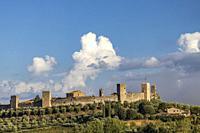 Old Town Monteriggioni, Tuscany, Italy.