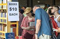 Detroit, Michigan - The annual Detroit Festival of Books returned to Eastern Market after a year off due to the pandemic. The event is the largest boo...
