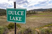 Dulce, New Mexico - Dulce Lake on the Jicarilla Apache Nation in northern New Mexico is dry due to prolonged drought.