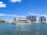 The Marina Jack II lunch and dinner cruise ship in Sarasota Bay on the Sarasota Florida Waterfront.