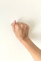 Female hand fist.