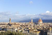 View of Florence from Piazzale Michelangelo, Florence, Italy.
