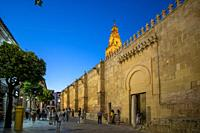 Cordoba Andalusia Spain Cordoba Great Mosque currently Catholic cathedral by dusk. UNESCO World Heritage Site.