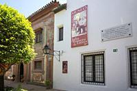 Cordoba Andalusia Spain Plaza del potro square Julio Romero de Torres museum.