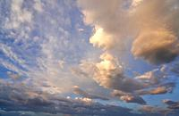 Clouds, sunrise, Basque Country, Spain, Europe