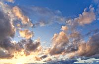 Clouds, Sunset, Basque Country, Spain, Europe