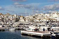 Puerto Banús (Marbella) Malaga. José Banús marina in the city of Marbella.