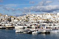Puerto Banús (Marbella) Malaga. Puerto Banús marina in the city of Marbella.
