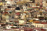 Naples (Italy). View of the old town of Naples.