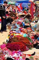 Lao Cai province, Bac Ha, weekly market for tribal people, flower Hmongs ethnic group, Sapa, Vietnam
