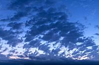 Clouds at sunrise. Almansa. Albacete, Spain, Europe.