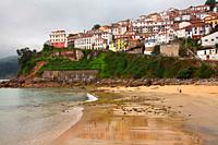 View of Llastres village. Asturias.