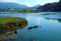 Landscape in the Ribadesella estuary. Asturias.