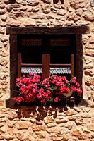 Window in a house in Calatañazor. Soria.