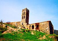 Old mosque, castle. Almonaster la Real, Huelva province, Andalucia, Spain.