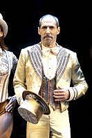 Manuel Bandera of the musical 'A Chorus Line' performs on stage during the presentation of 'A Chorus Line' at the Calderon Theater on October 07, 2021...