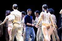 Antonio Banderas present 'A Chorus Line' at the Calderon Theater on October 07, 2021 in Madrid, Spain.