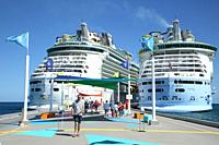 Coco Cay cruise port perfect day, Bahamas.