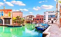 An ordinary Italian quiet courtyard in Venice.