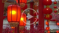 Decoration red lantern in celebration chinese new year