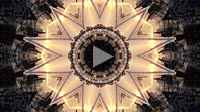 Tiny planet kaleidoscopic abstract background