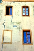 four windows, Banyoles, Catalonia, Spain