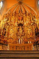 altarpiece and altar of the church of Santa Maria, baroque, Arenys de Mar, Catalonia, spain