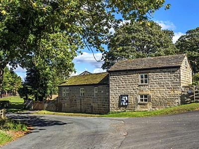 The vilalge of Castley near Pool in Lower Wharfedale North Yorkshire England.