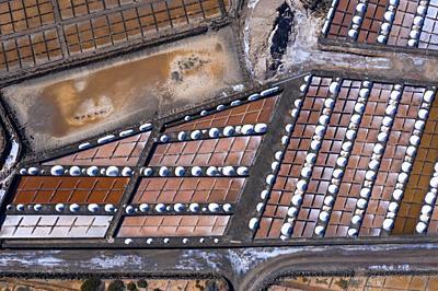 Salinas de Janubio, La Hoya, Lanzarote Island, Canary Islands, Spain, Europe.
