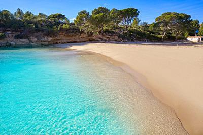 Cala Calafato Ametlla de mar beach in Costa dorada of Tarragona Catalonia L'ametlla.