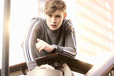 young model man, in Hamburg, Germany.