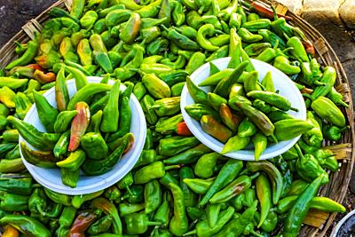 Colorful Mexican Green Jalapeno Chile Pepper Oaxaca Juarez Mexico.