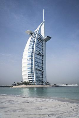 The Burj Al Arab Hotel on Jumeirah Beach, Dubai, UAE, Middle East.