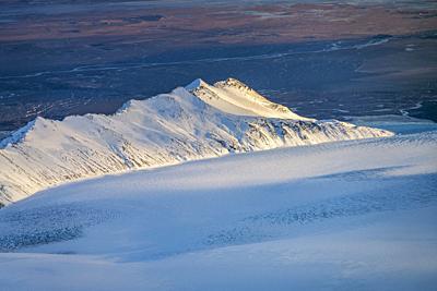 Glacial landscapes, Breidamerkurjokull, Vatnajokull Ice Cap, Vatnajokull National Park, Iceland.