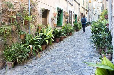 Street of Valldemossa, Majorca, Spain.