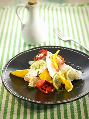 ensalada de dorada en cebiche con chiles / golden salad in cebiche with chili peppers