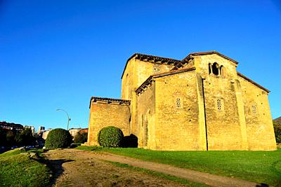 Pre-Romanesque church of San Julian de los Prados in surroundings of Oviedo, Asturias, Spain.