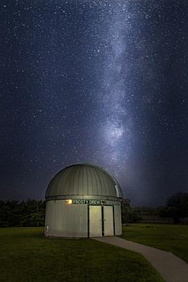 Milky Way Rising Over Observatory.