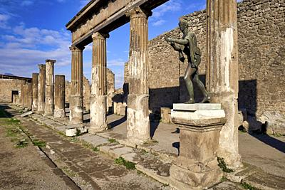 Naples Campania Italy. Pompeii was an ancient Roman city near modern Naples in the Campania region of Italy, in the territory of the comune ...
