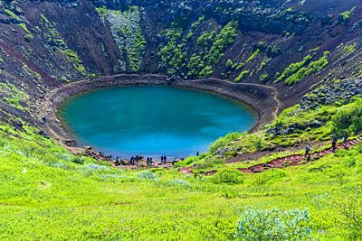 Kerid Crater, Southern Region, Iceland.