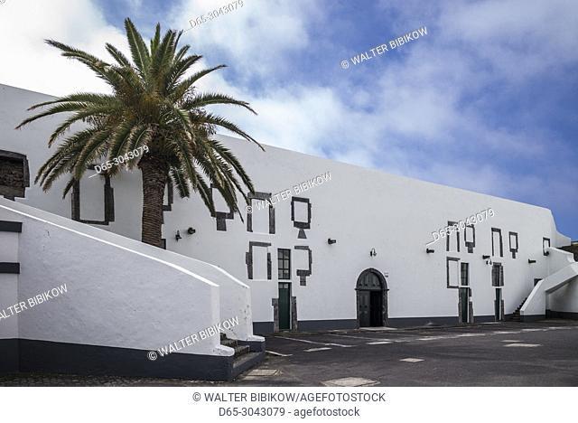Portugal, Azores, Sao Miguel Island, Ponta Delgada, Forte Sao Bras fort, interior walls