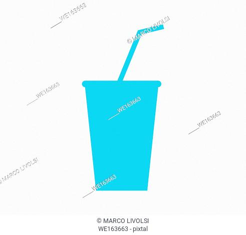 glass icon with drinking straw